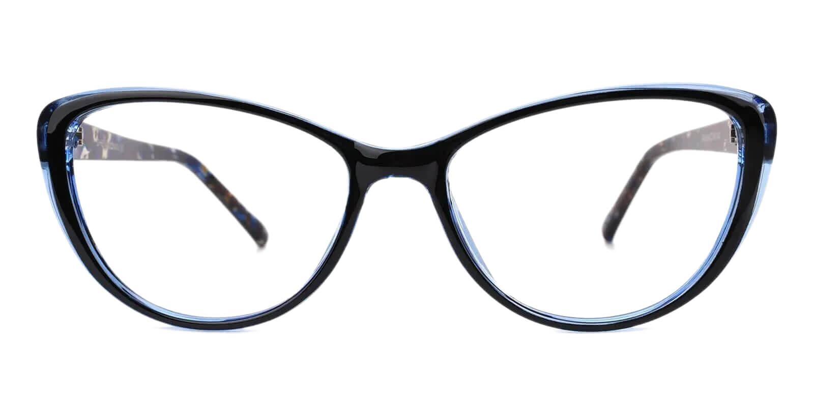 Olga Blue Plastic Eyeglasses Frames from ABBE Glasses