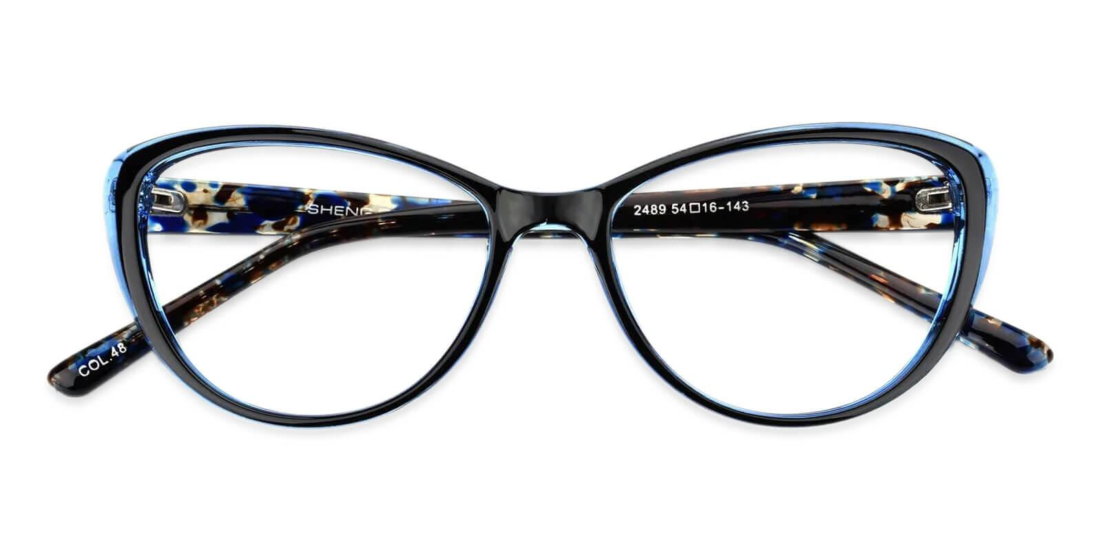 Olga Blue Plastic Eyeglasses Frames from ABBE Glasses