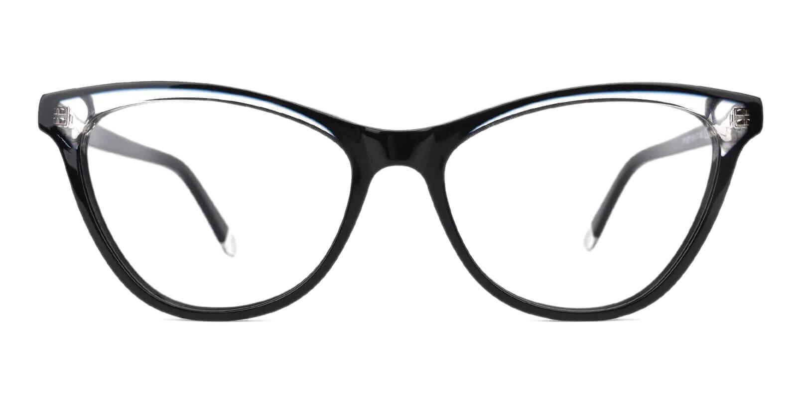 Luznic Black Acetate Eyeglasses , UniversalBridgeFit Frames from ABBE Glasses