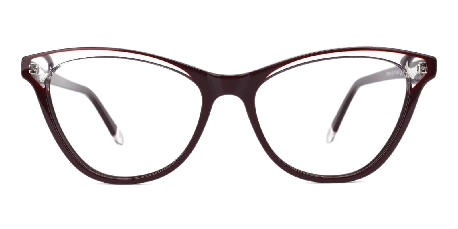 Luznic Brown Acetate Eyeglasses , UniversalBridgeFit Frames from ABBE Glasses