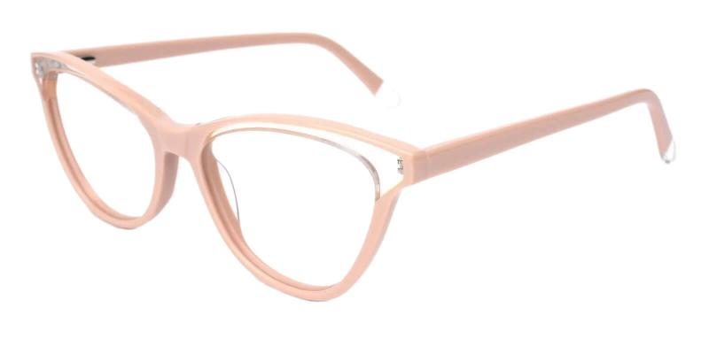 Pink Luznic - Acetate ,Universal Bridge Fit