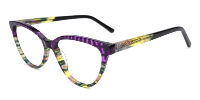 Purple Sazava - Acetate ,Universal Bridge Fit