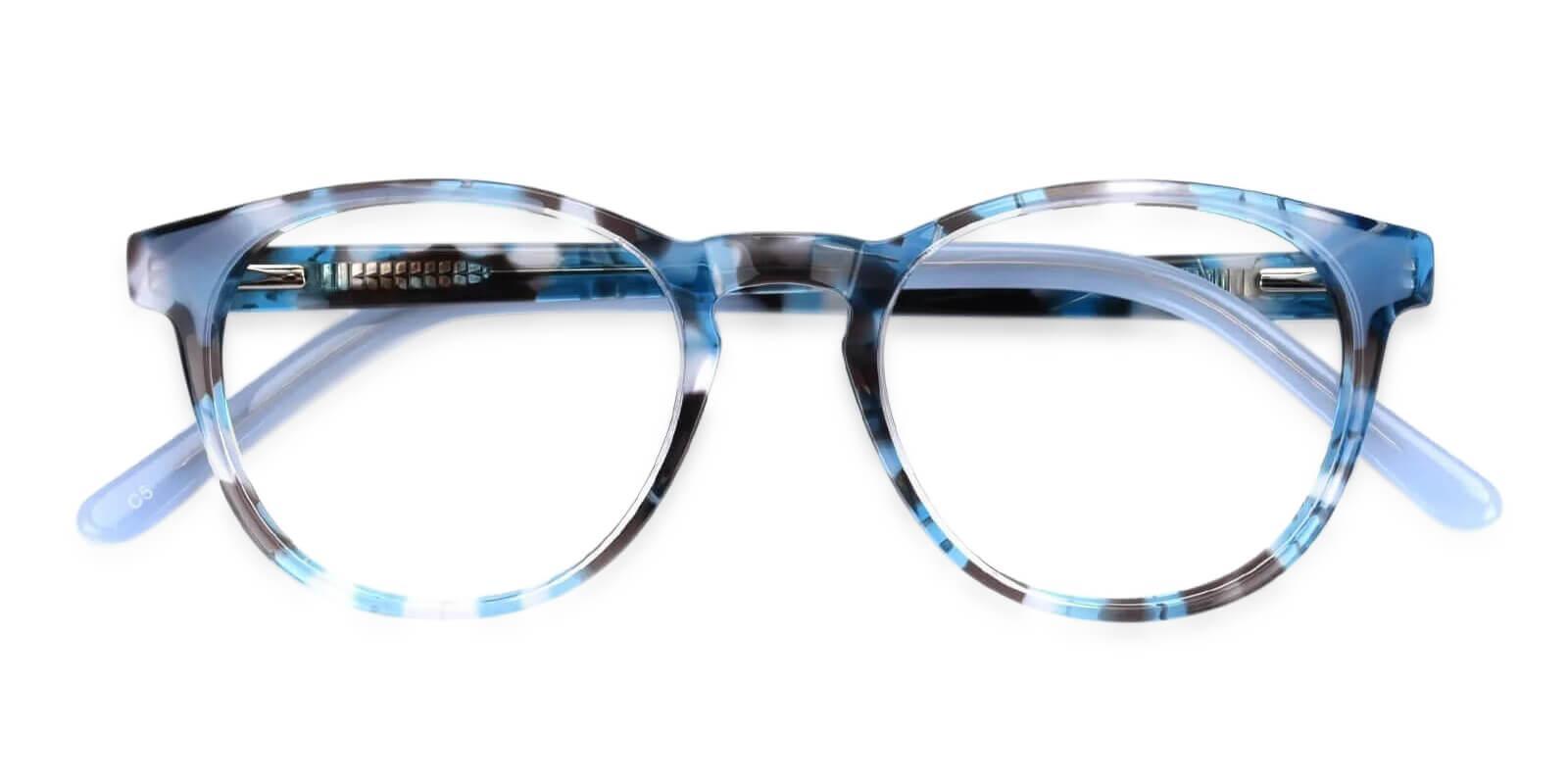 Otava Blue Acetate Eyeglasses , UniversalBridgeFit Frames from ABBE Glasses