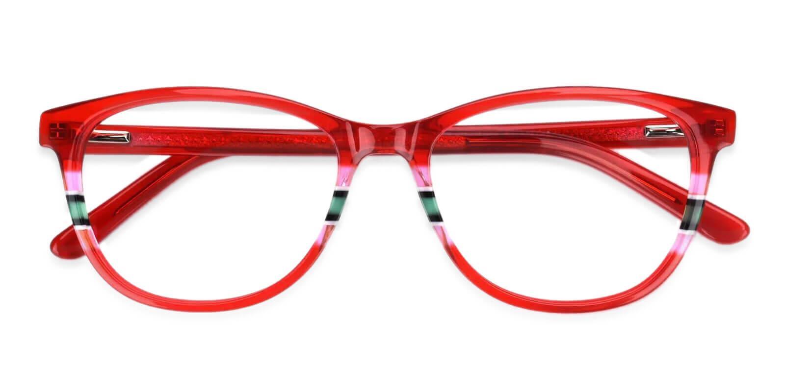 Vltava Red Acetate Eyeglasses , UniversalBridgeFit Frames from ABBE Glasses