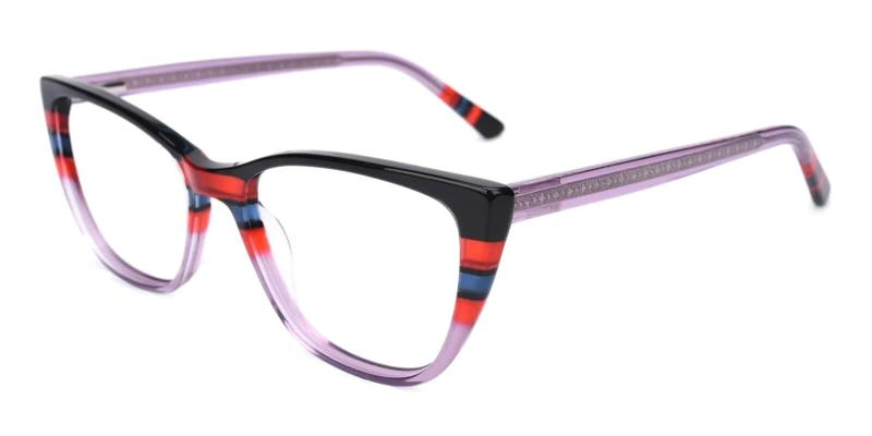 Purple Prague - Acetate ,Universal Bridge Fit