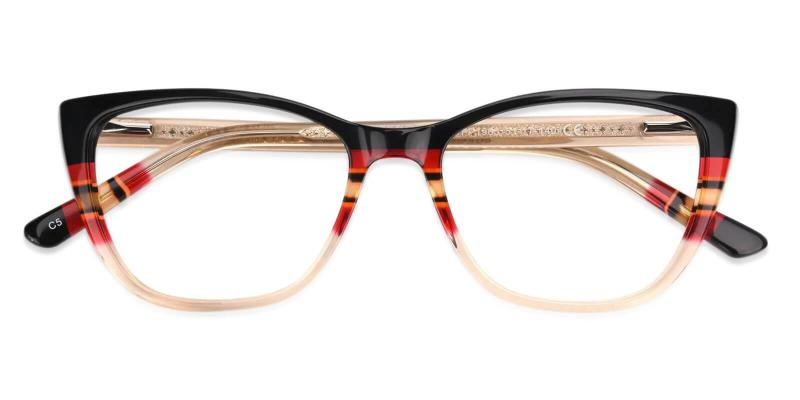 Yellow Prague - Acetate Eyeglasses , UniversalBridgeFit