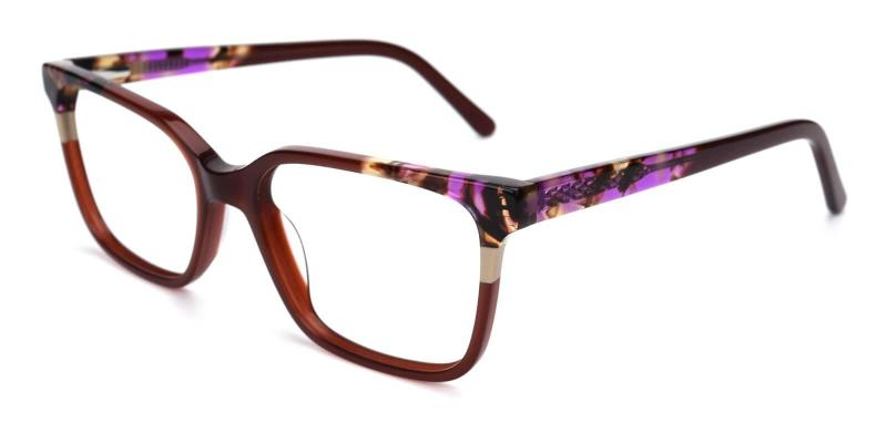 Purple Mars - Acetate Eyeglasses , UniversalBridgeFit