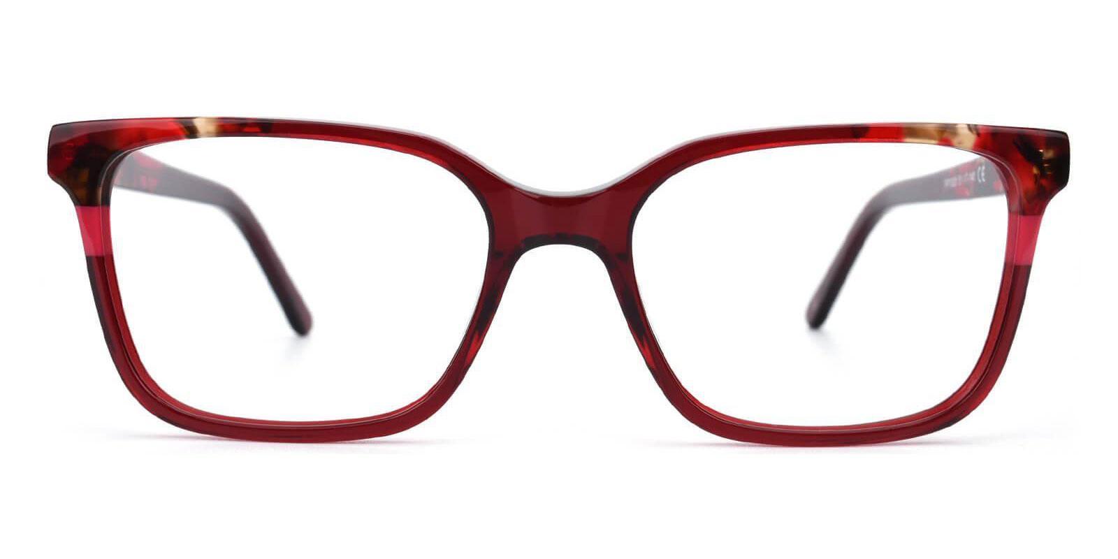 Mars Red Acetate Eyeglasses , UniversalBridgeFit Frames from ABBE Glasses