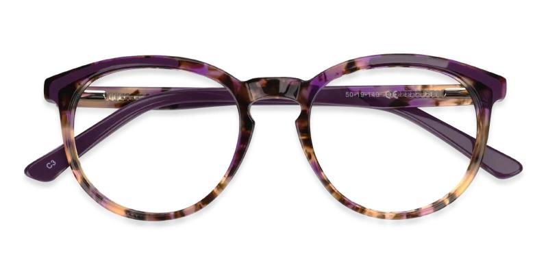 Purple Innsbruck - Acetate Eyeglasses , UniversalBridgeFit
