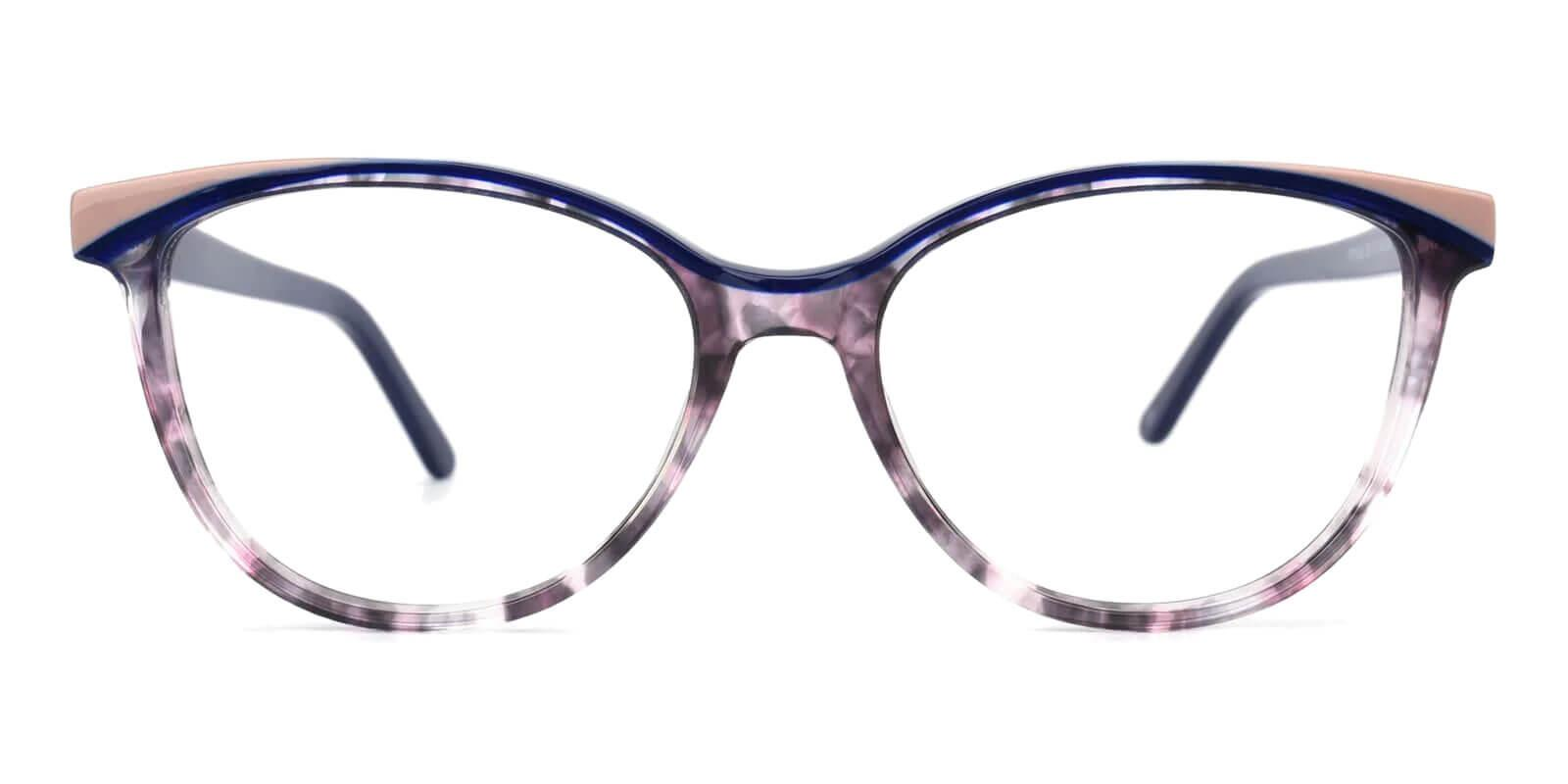 Salzburg Purple Acetate Eyeglasses , UniversalBridgeFit Frames from ABBE Glasses