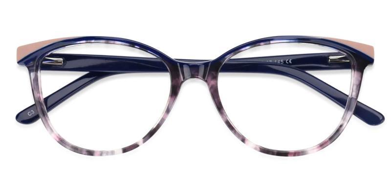 Purple Salzburg - Acetate Eyeglasses , UniversalBridgeFit