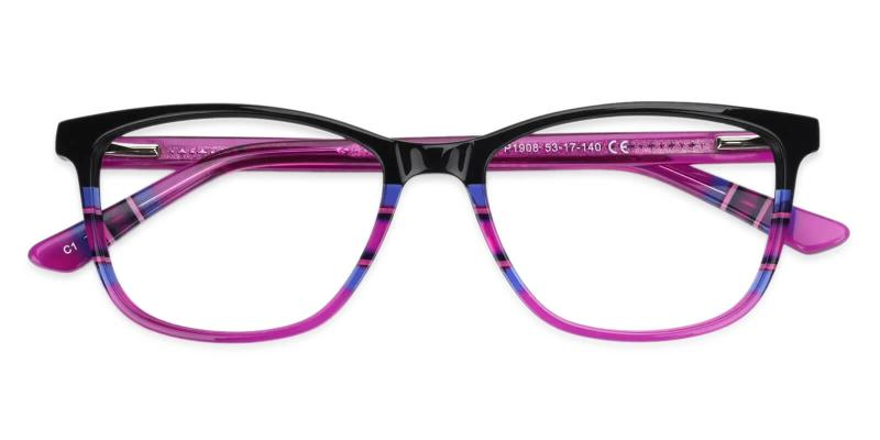 Purple Wolfgang - Acetate Eyeglasses , UniversalBridgeFit