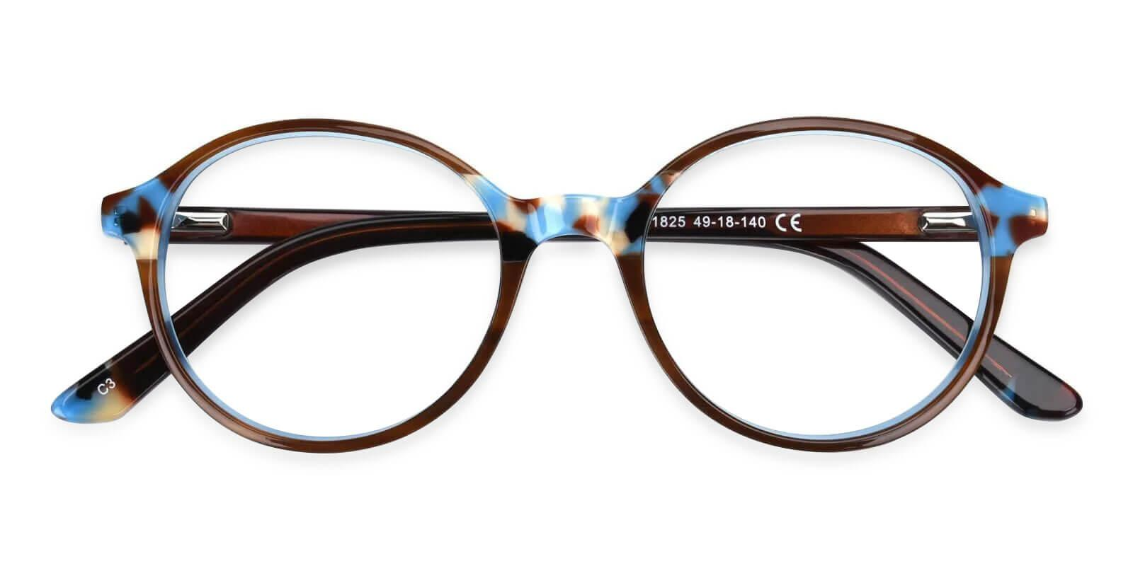 Vienna Blue Acetate Eyeglasses , UniversalBridgeFit Frames from ABBE Glasses