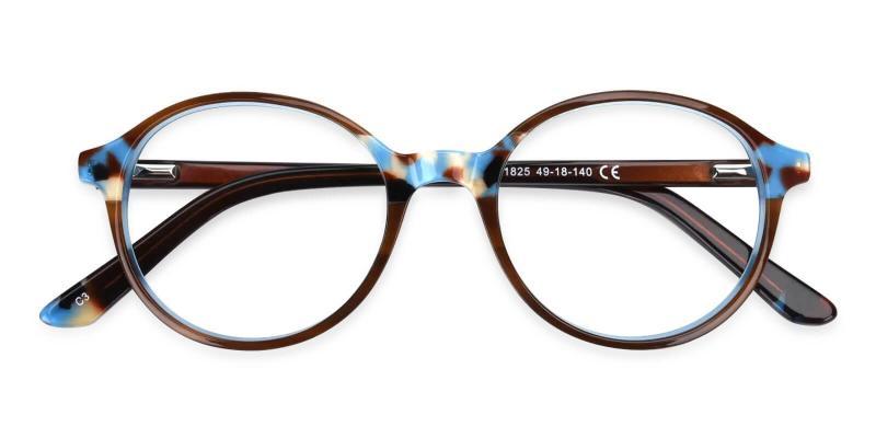 Blue Vienna - Acetate Eyeglasses , UniversalBridgeFit