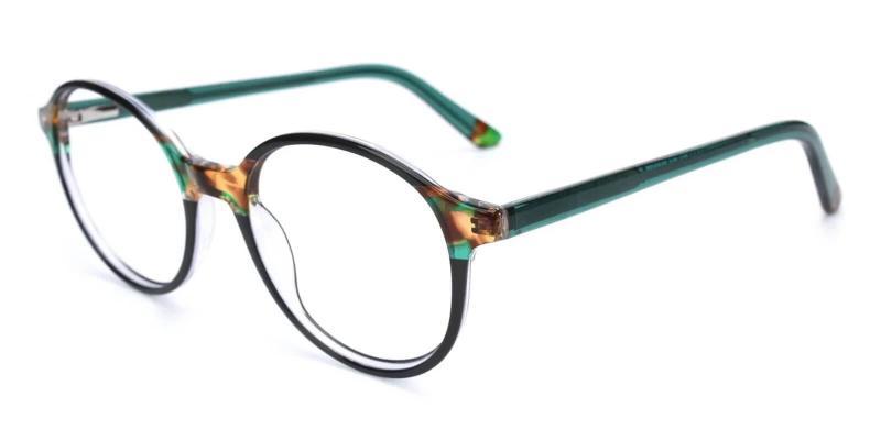 Green Vienna - Acetate Eyeglasses , UniversalBridgeFit