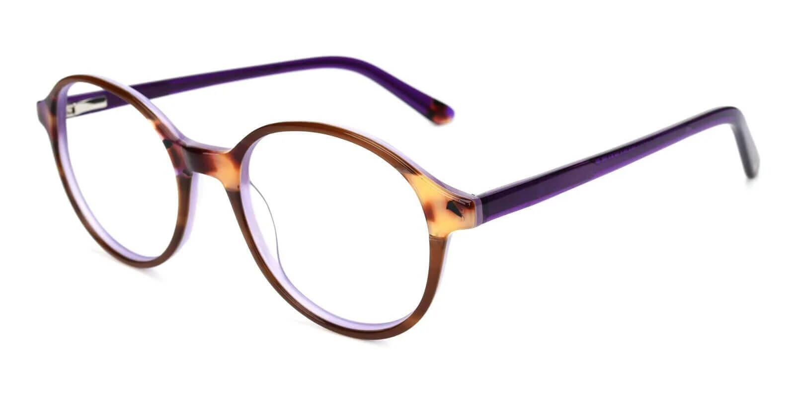 Vienna Purple Acetate Eyeglasses , UniversalBridgeFit Frames from ABBE Glasses