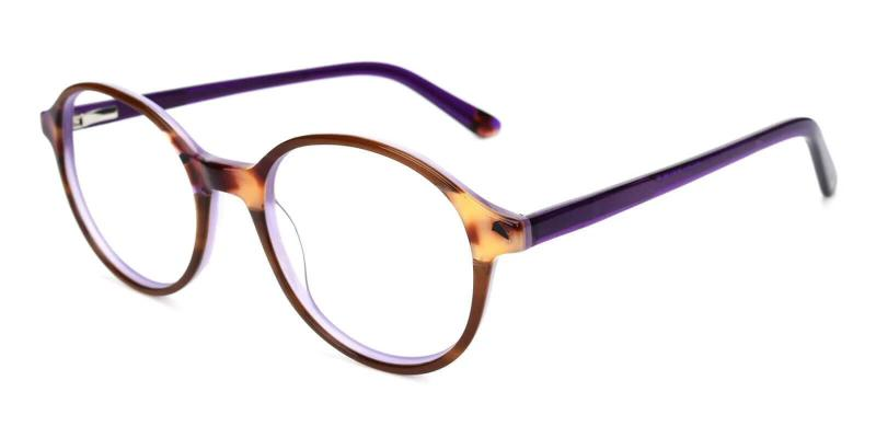Purple Vienna - Acetate Eyeglasses , UniversalBridgeFit