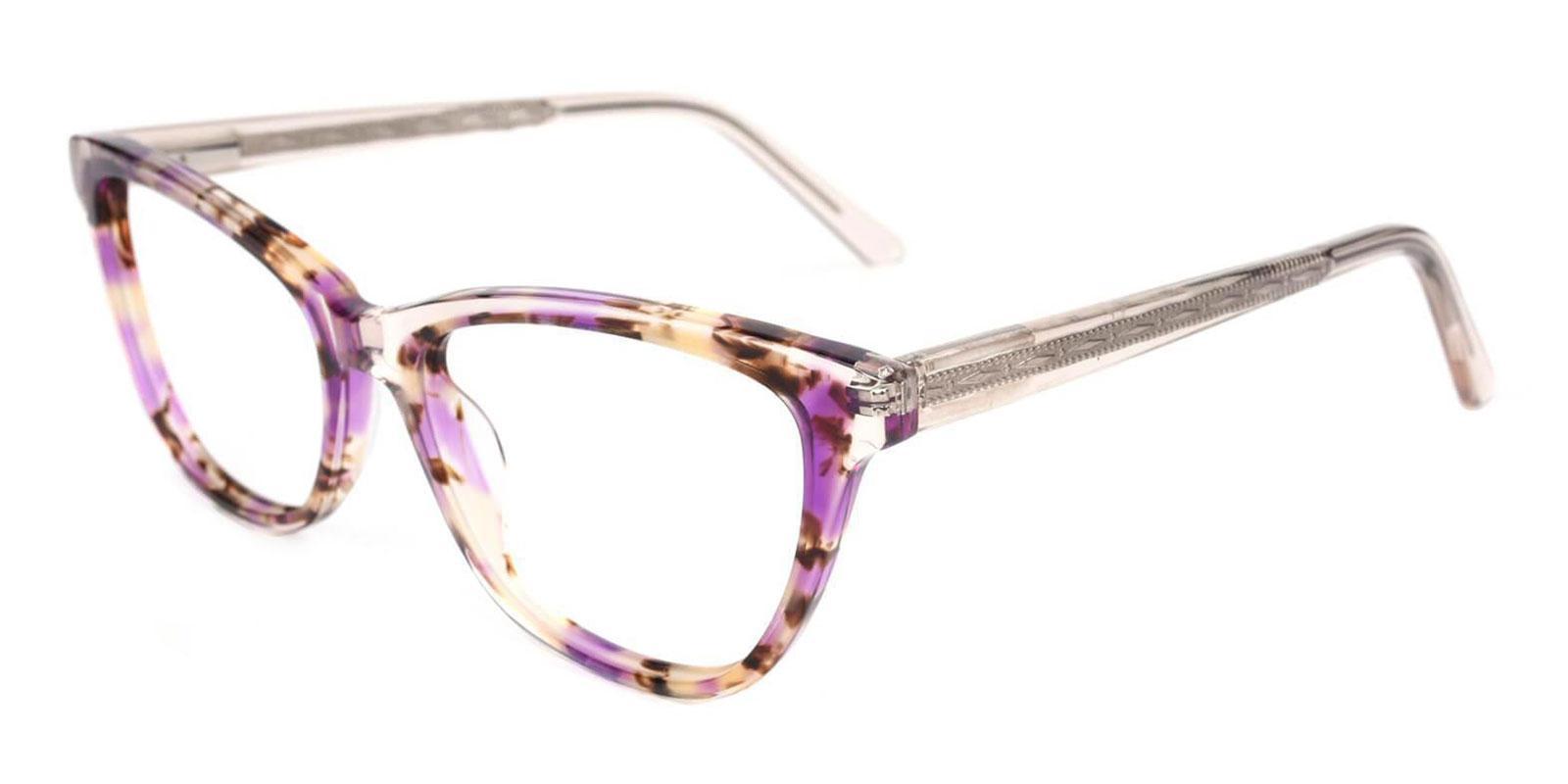 Strauss Purple Acetate Eyeglasses , UniversalBridgeFit Frames from ABBE Glasses
