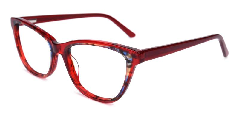 Red Strauss - Acetate Eyeglasses , UniversalBridgeFit