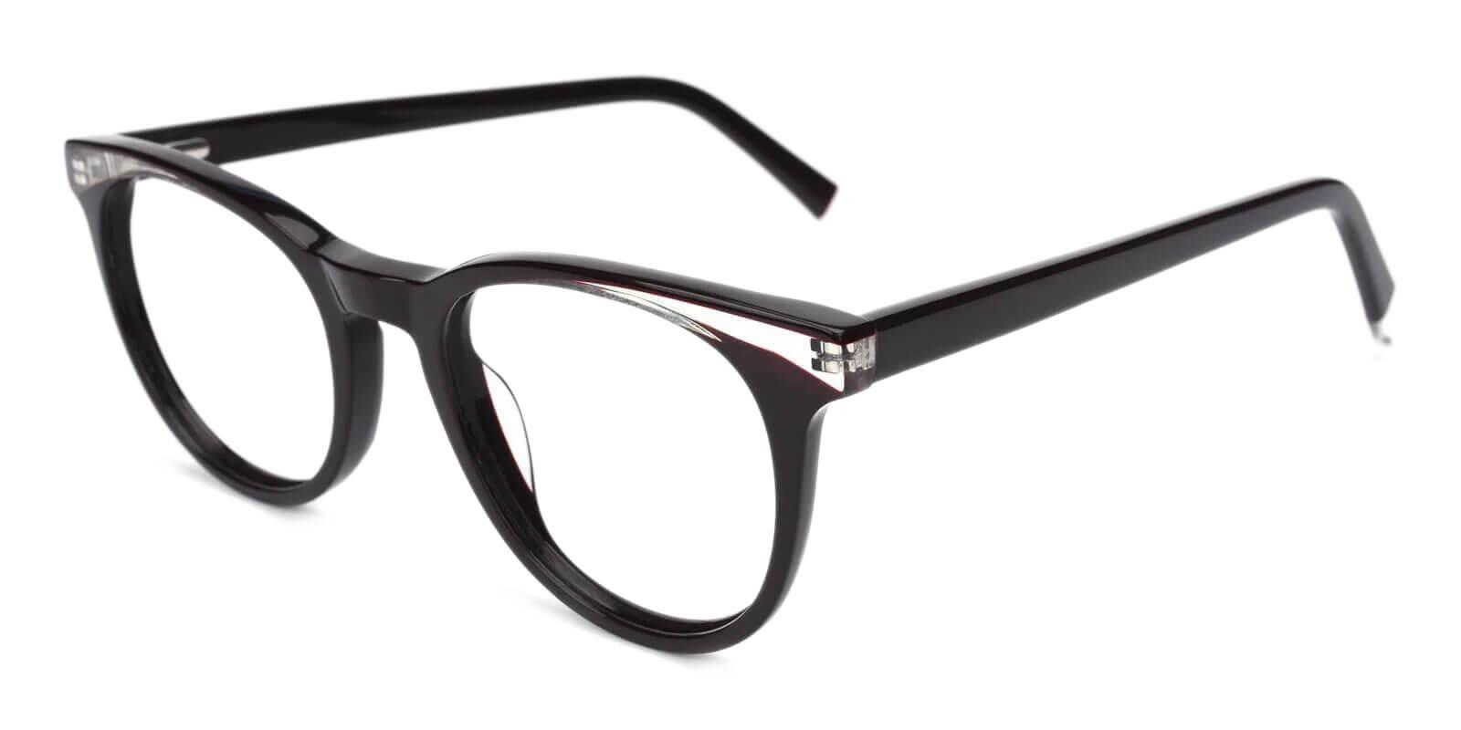 Dimona Black Acetate Eyeglasses , UniversalBridgeFit Frames from ABBE Glasses