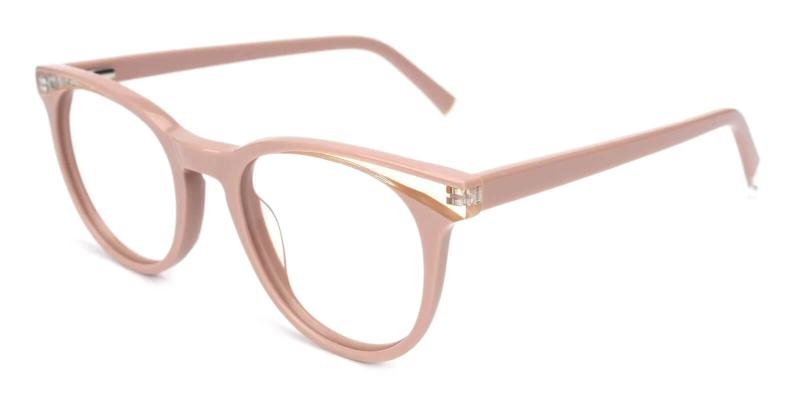 Pink Dimona - Acetate ,Universal Bridge Fit