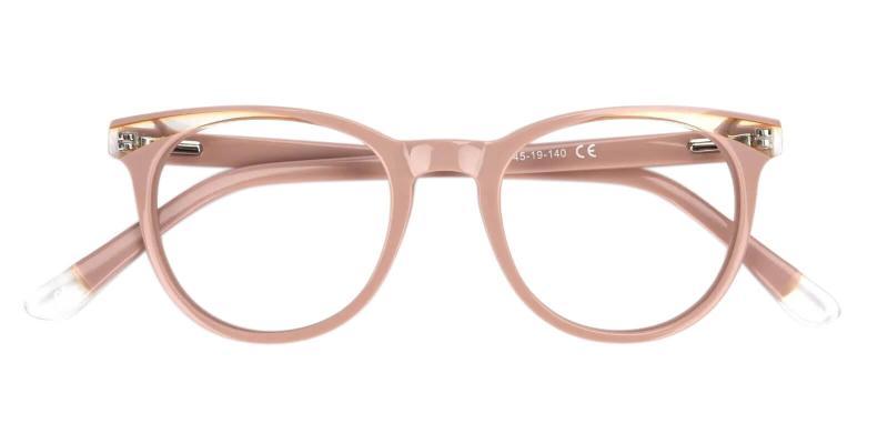 Pink Dimona - Acetate Eyeglasses , UniversalBridgeFit