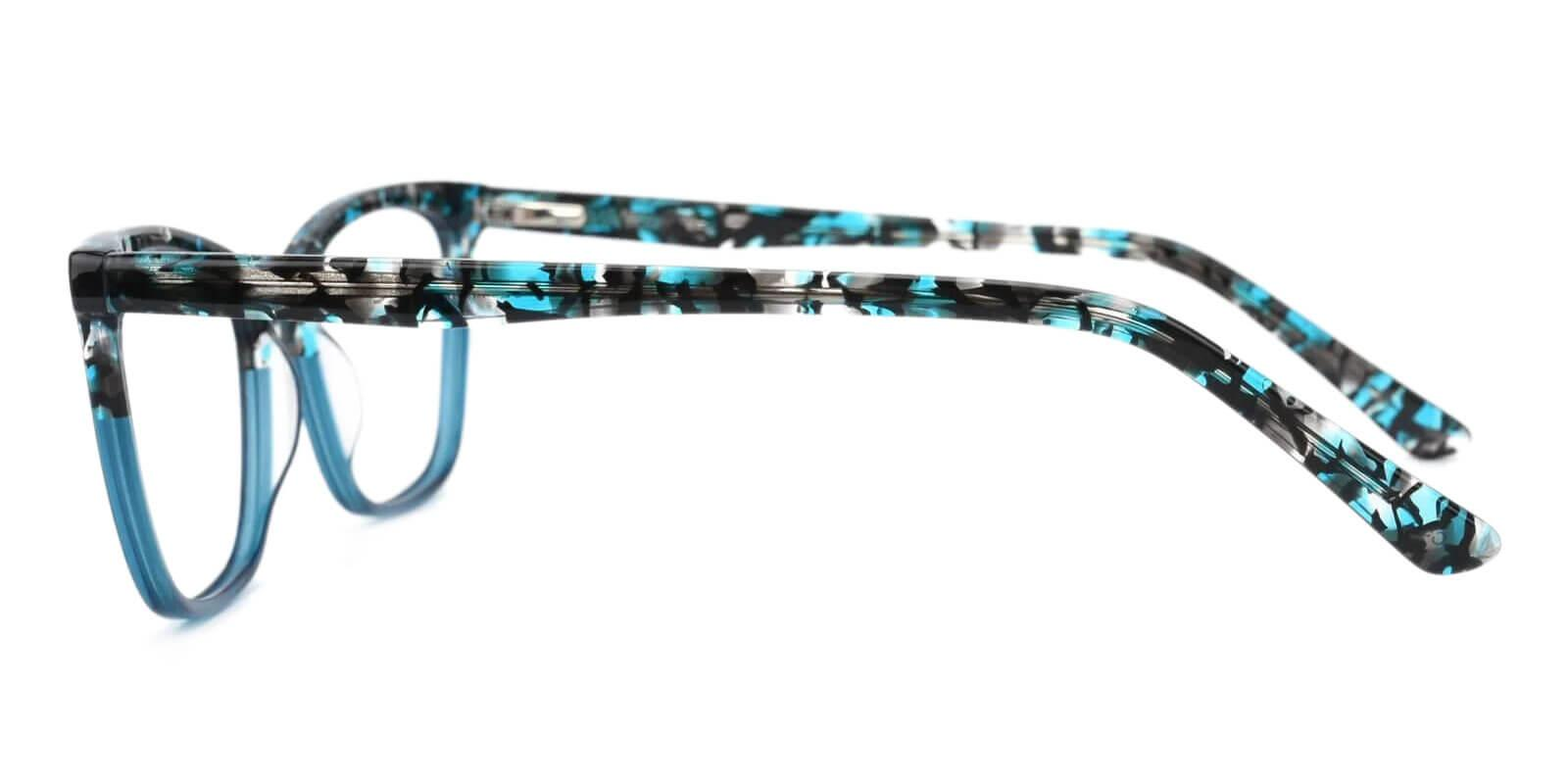 Masser Blue Acetate Eyeglasses , UniversalBridgeFit Frames from ABBE Glasses