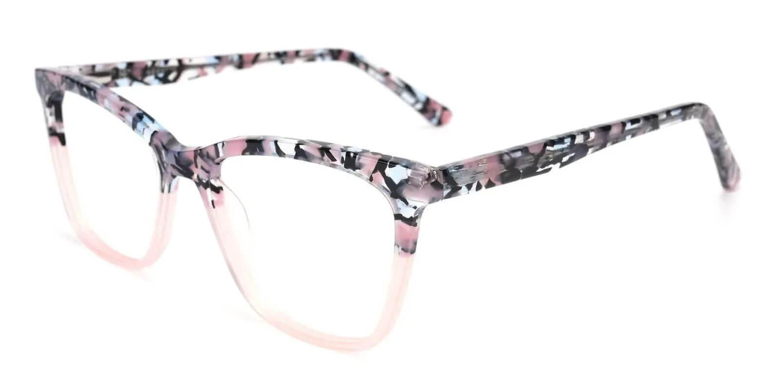 Masser Pink Acetate Eyeglasses , UniversalBridgeFit Frames from ABBE Glasses