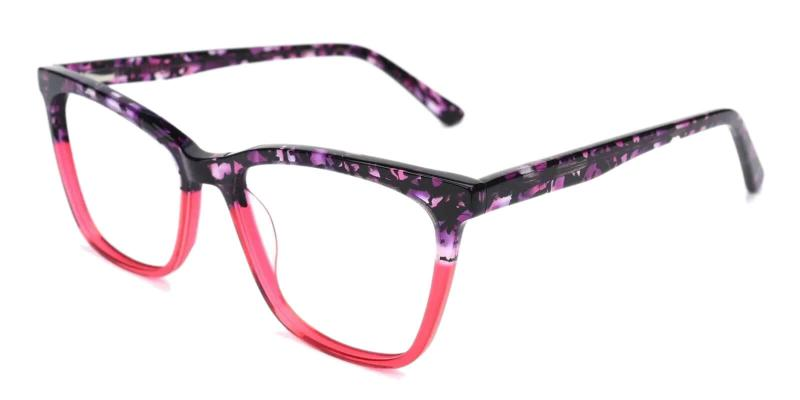 Purple Masser - Acetate Eyeglasses , UniversalBridgeFit