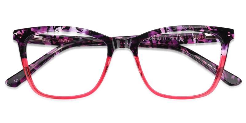 Purple Masser - Acetate Eyeglasses , UniversalBridgeFit
