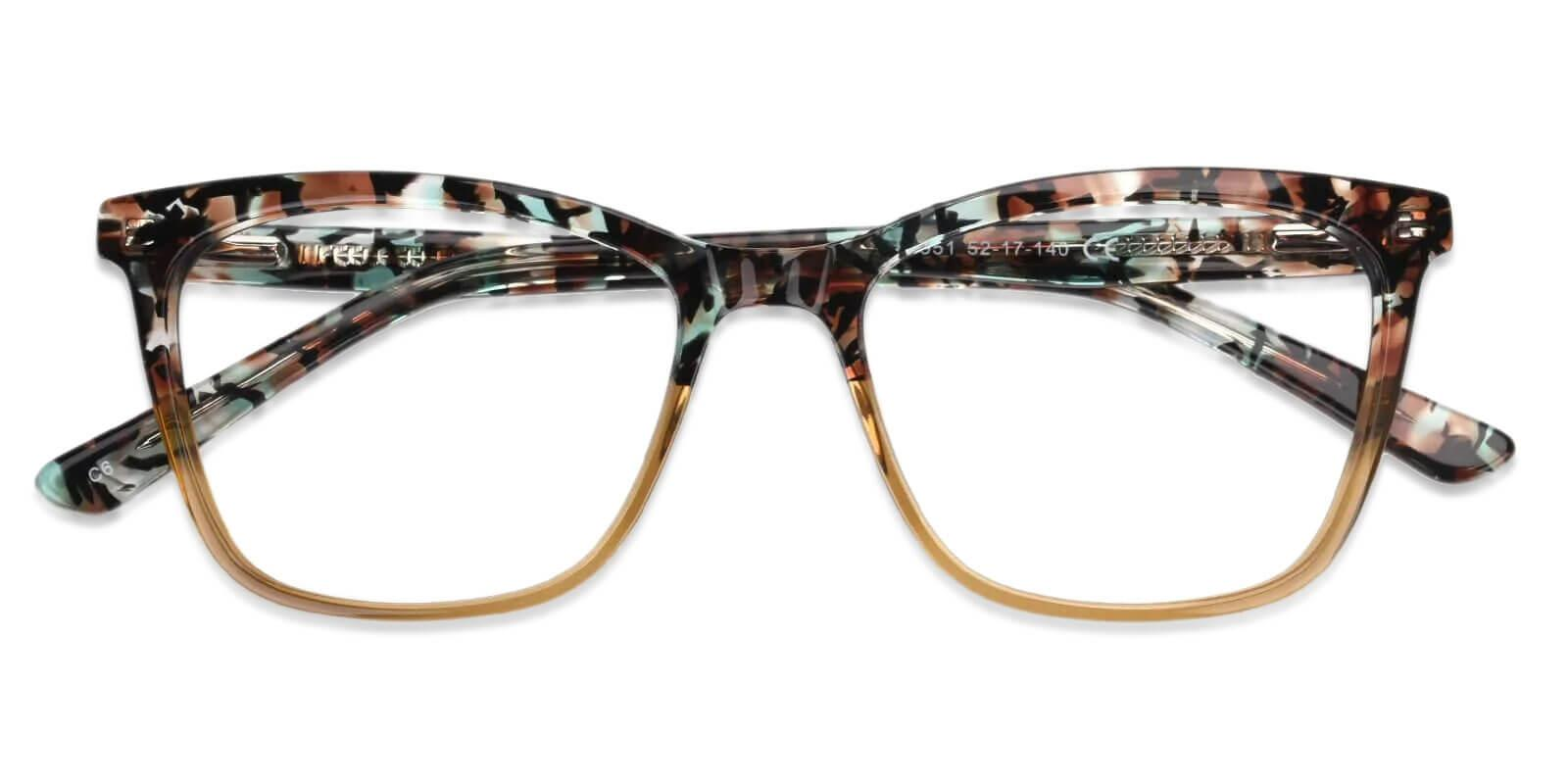 Masser Yellow Acetate Eyeglasses , UniversalBridgeFit Frames from ABBE Glasses