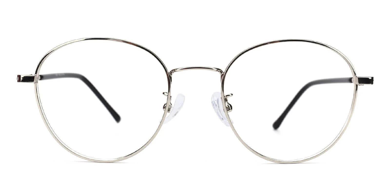 Joe Silver Metal Eyeglasses , NosePads Frames from ABBE Glasses