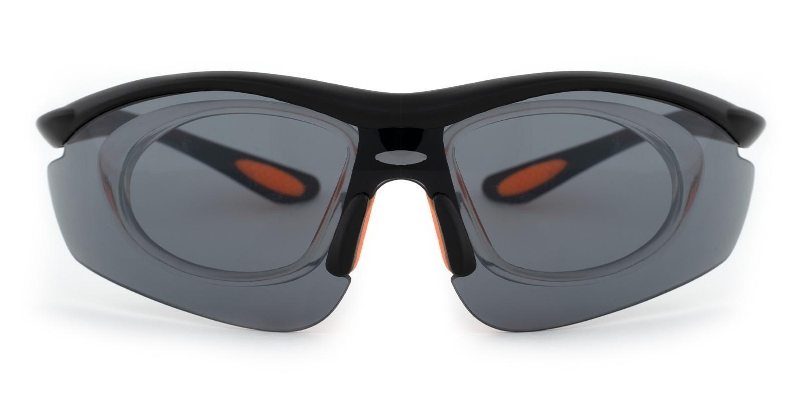 Gustavus Black Plastic NosePads , SportsGlasses Frames from ABBE Glasses