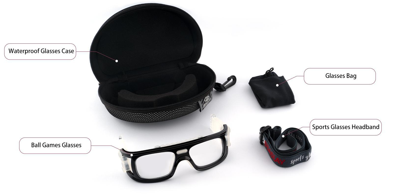 Lock Springs Black Plastic NosePads , SportsGlasses Frames from ABBE Glasses