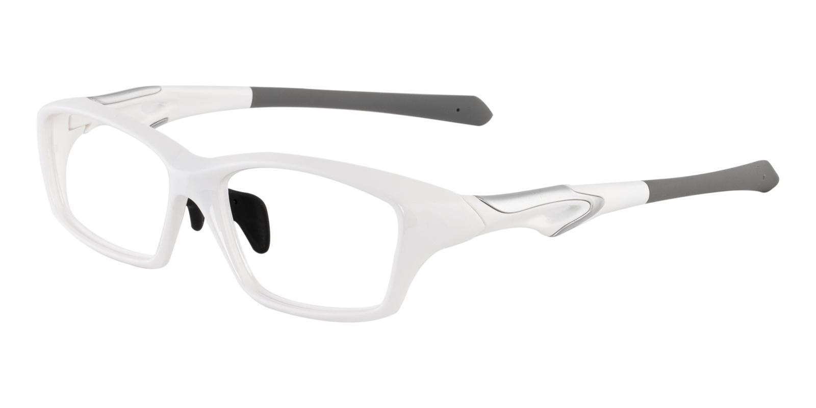 Clementine White TR NosePads , SportsGlasses , SpringHinges Frames from ABBE Glasses