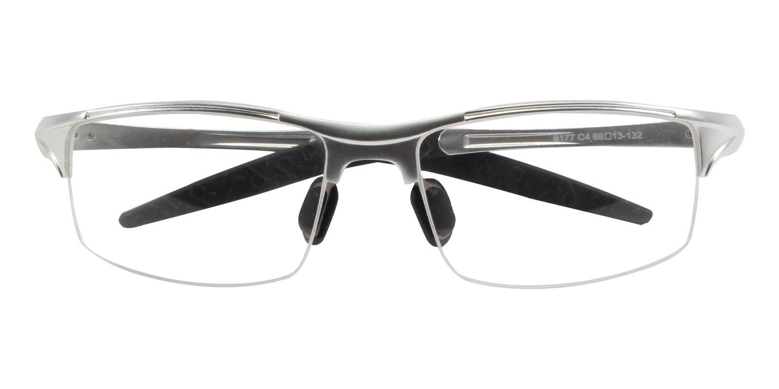 Surveyor Silver Metal NosePads , SportsGlasses , SpringHinges Frames from ABBE Glasses