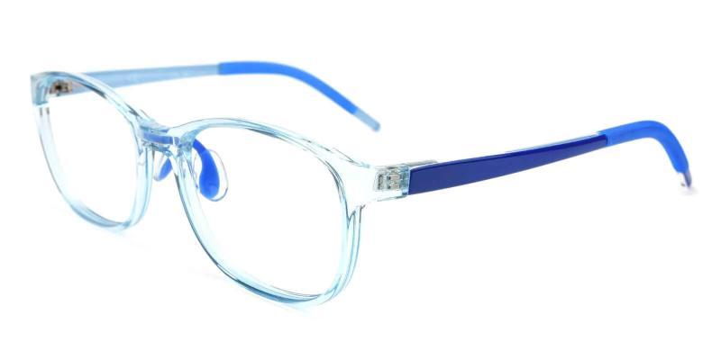 Blue Kids-Dione - TR Eyeglasses , Lightweight , UniversalBridgeFit