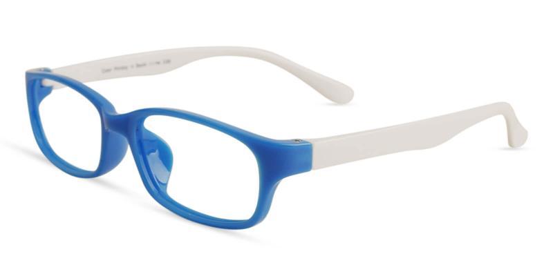 Blue Kids-Phoebe - TR Eyeglasses , Lightweight , UniversalBridgeFit