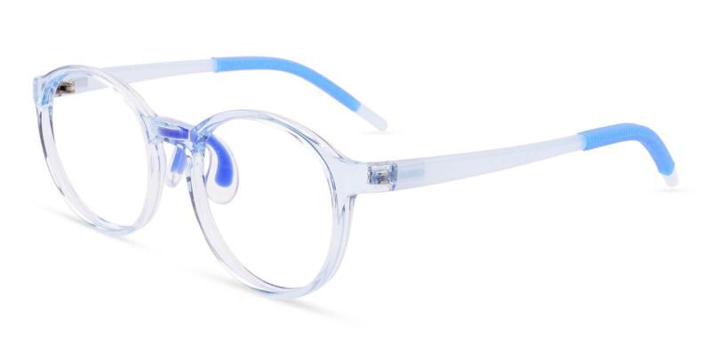 Blue Kids-Titania - TR Eyeglasses , Lightweight , NosePads