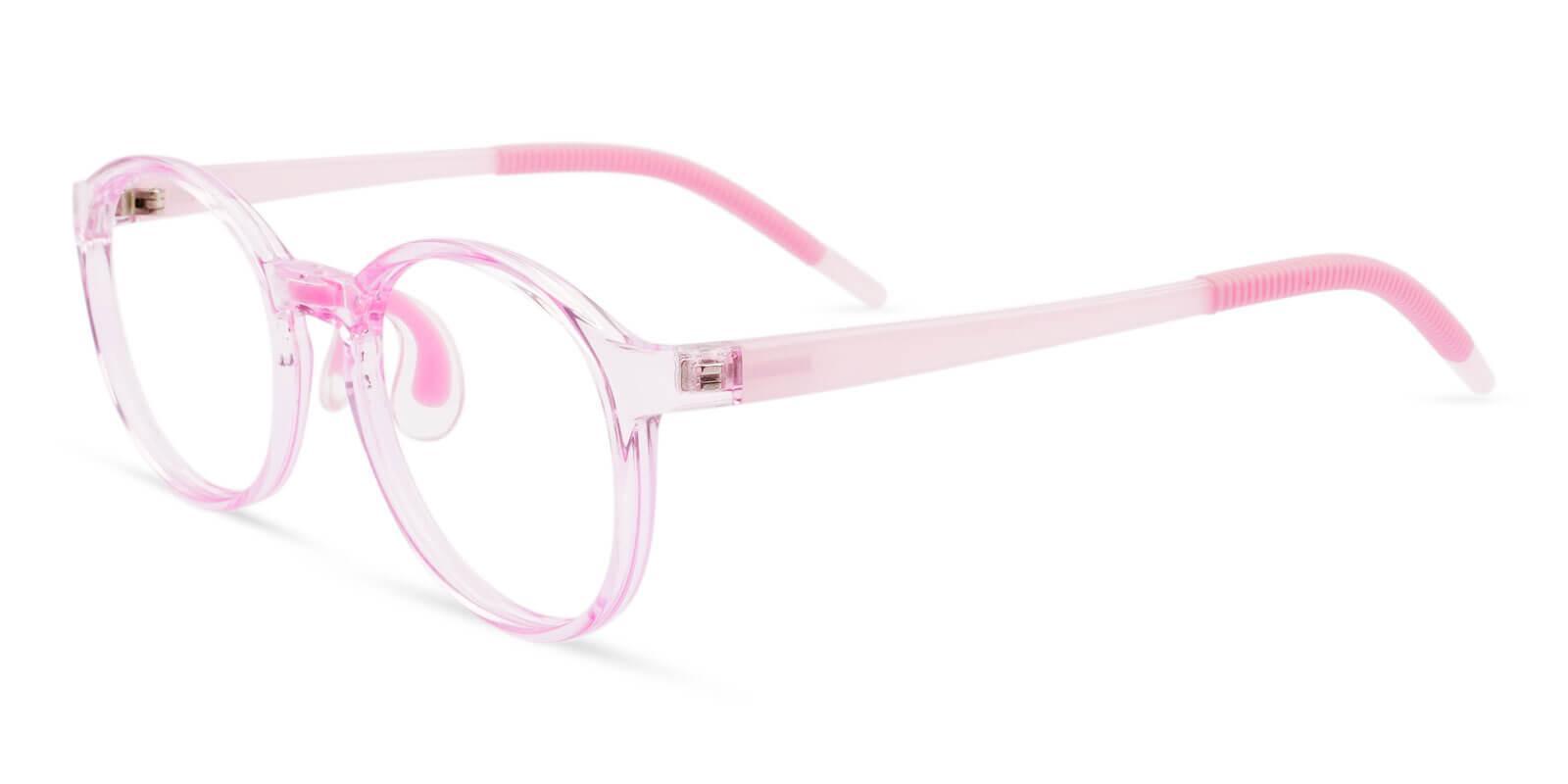 Kids-Oberon Pink TR Eyeglasses , Lightweight , NosePads Frames from ABBE Glasses