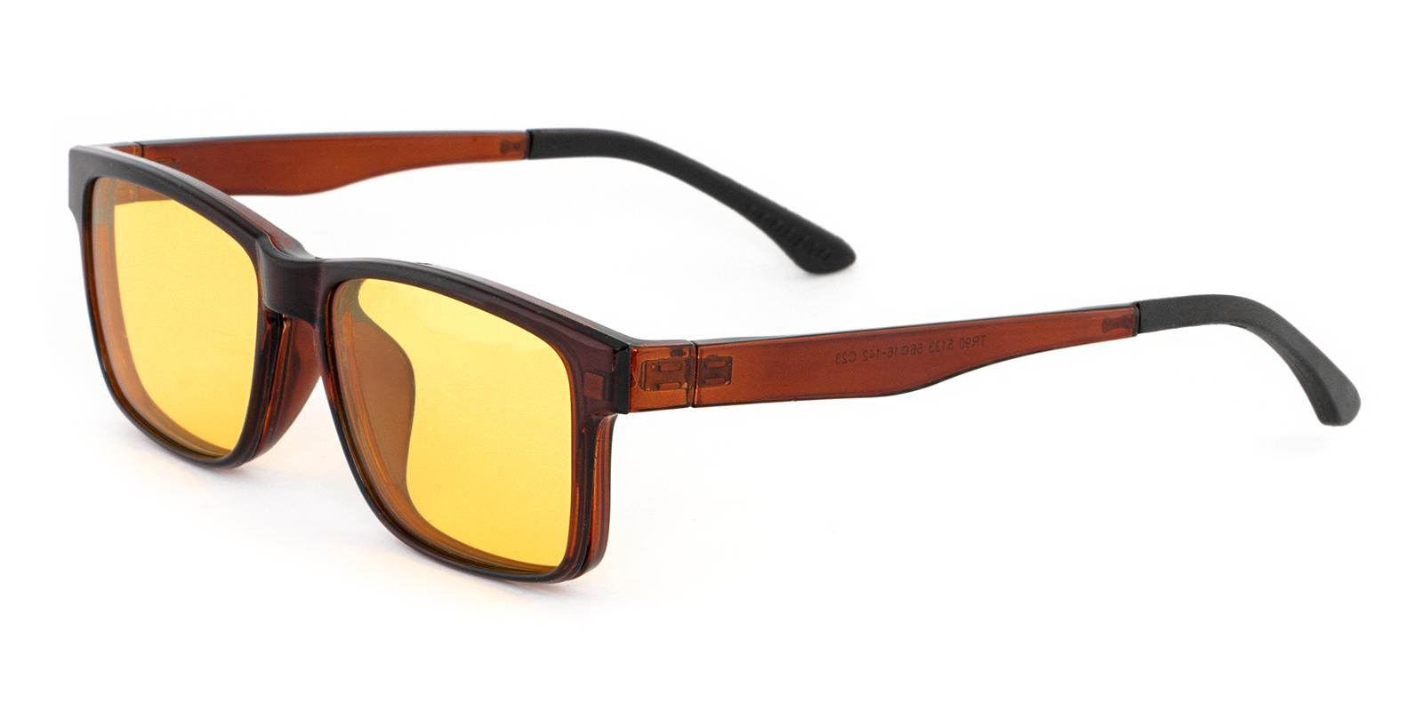 Styx Brown Combination Eyeglasses , Sunglasses , UniversalBridgeFit Frames from ABBE Glasses