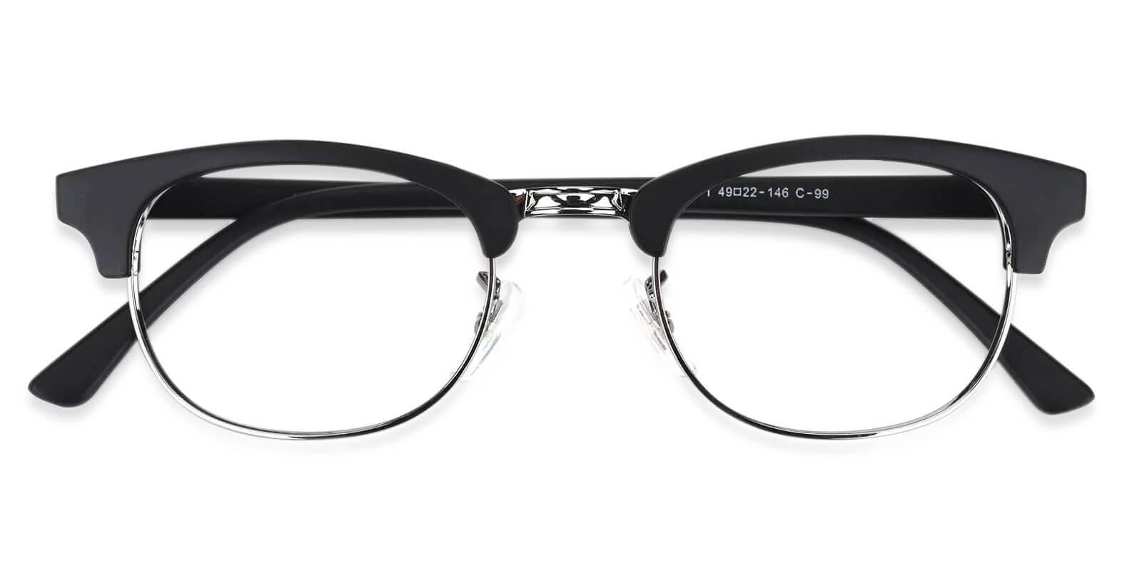 Aidan Black TR Eyeglasses , NosePads Frames from ABBE Glasses