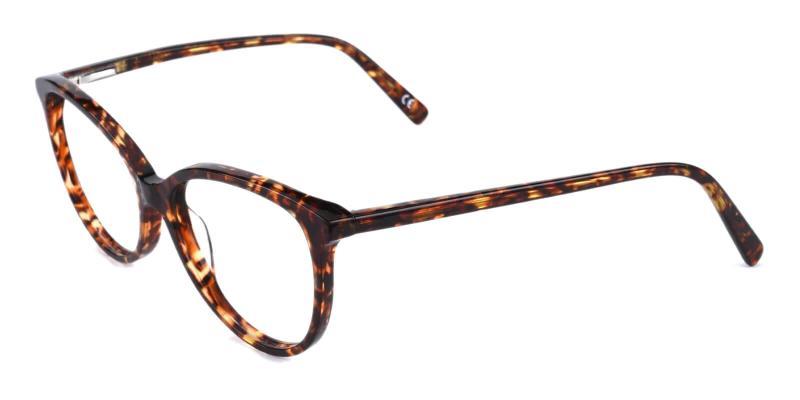 Tortoise Prism - Acetate Eyeglasses , SpringHinges , UniversalBridgeFit