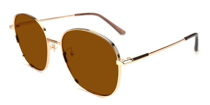 Brown Sequence - Metal ,Sunglasses