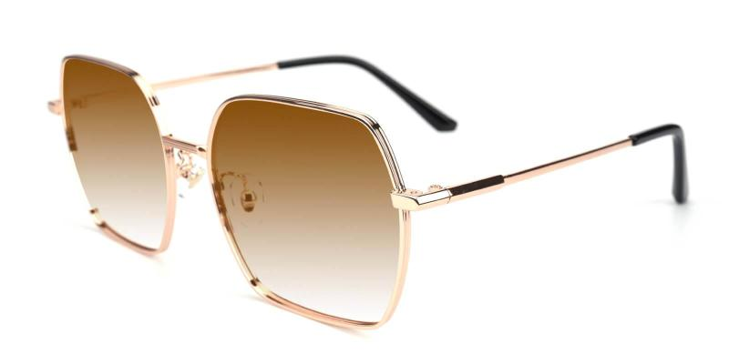 Gold Present - Metal ,Sunglasses