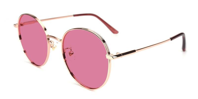 Gold Belmont - Metal ,Sunglasses