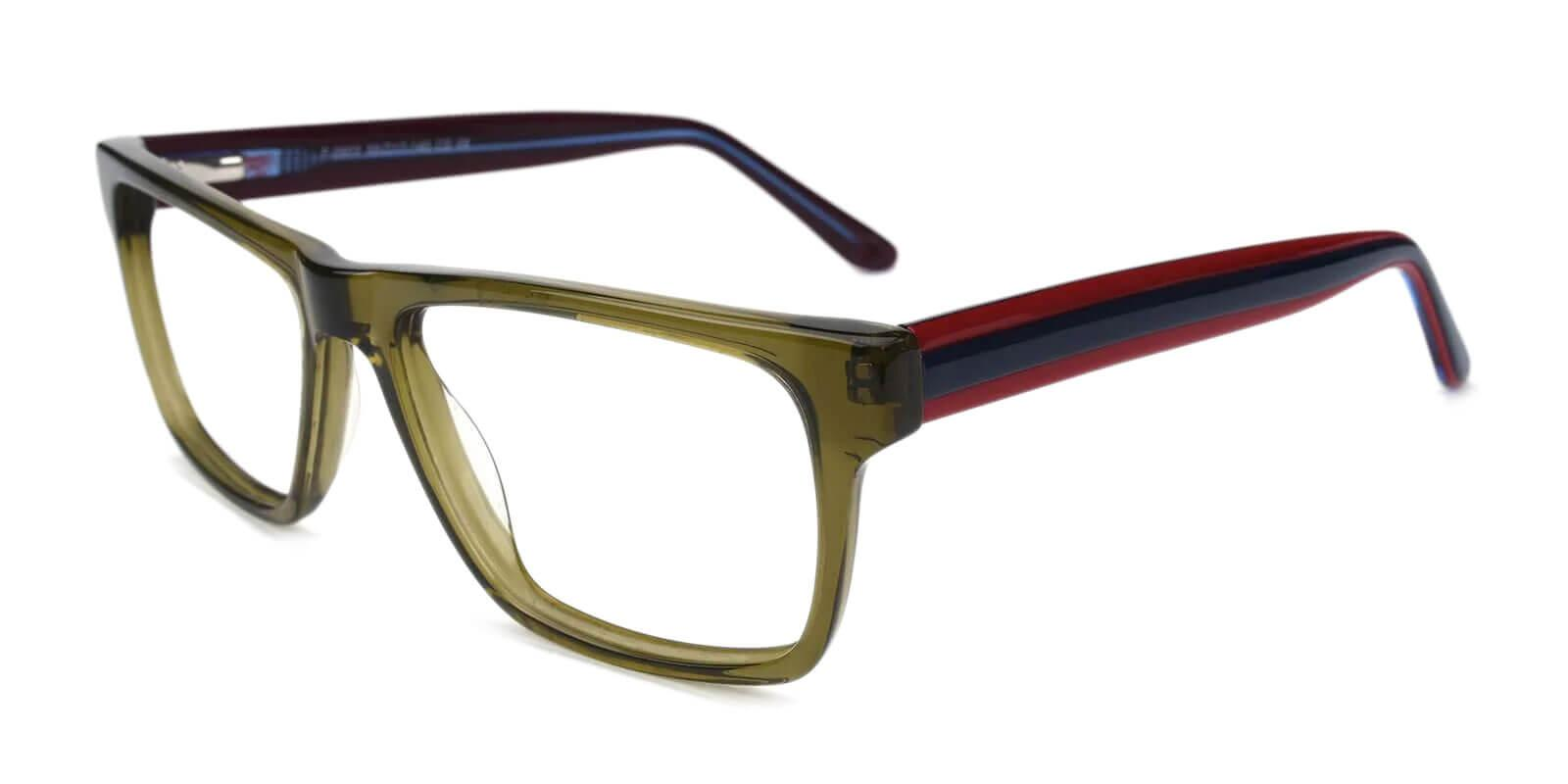 Outline Green Acetate Eyeglasses , SpringHinges , UniversalBridgeFit Frames from ABBE Glasses
