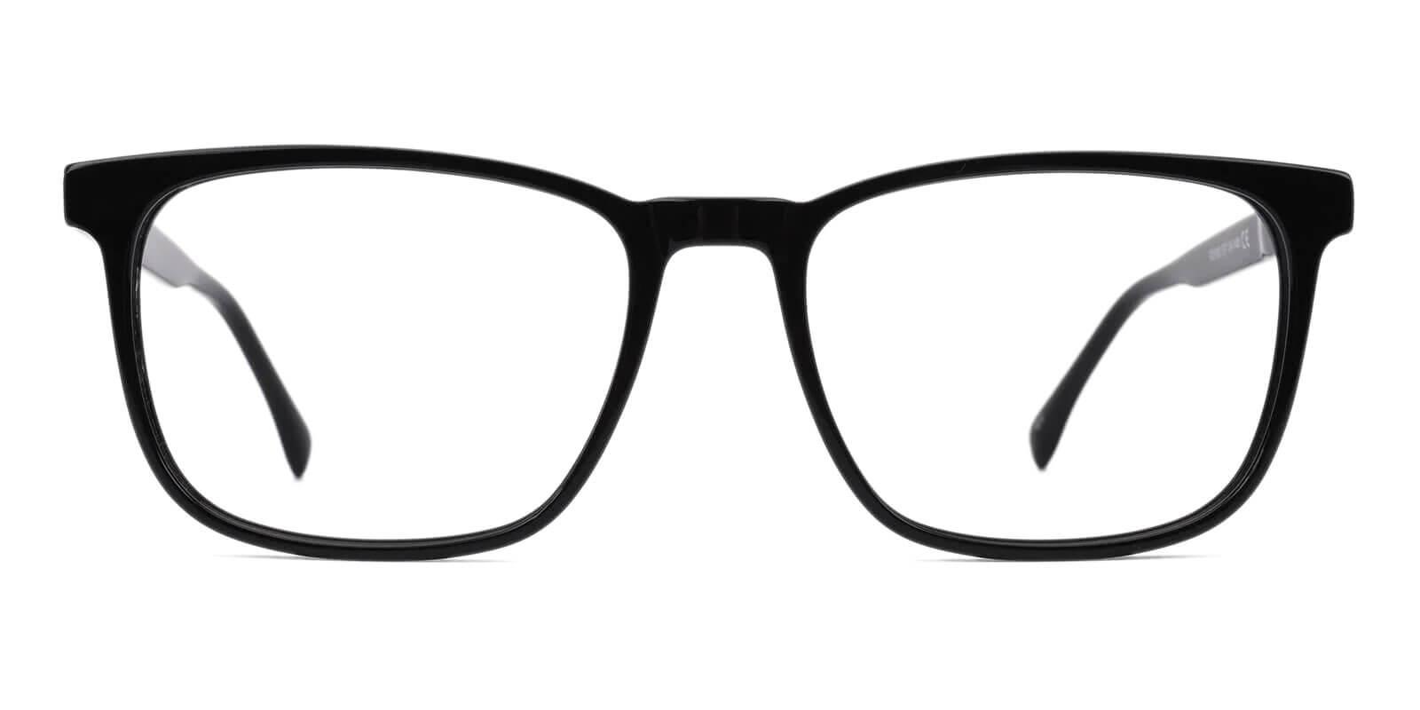 Kinjin Black Acetate Eyeglasses , SpringHinges , UniversalBridgeFit Frames from ABBE Glasses