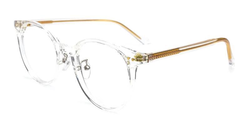White Borderline - TR Eyeglasses , NosePads