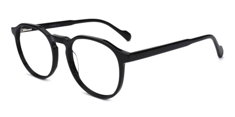 Black Carnival - Acetate Eyeglasses , SpringHinges , UniversalBridgeFit